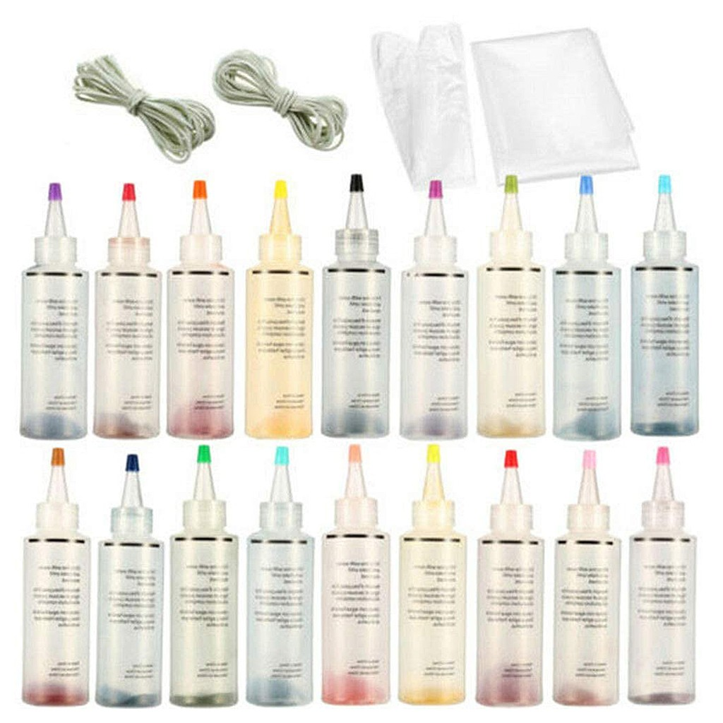 18 Bottles Tulip Permanent One Step Tie Dye Set Fabric Textile DIY Kits 18 Colors DIY Design Safe Non Toxic Permanent Dyes image