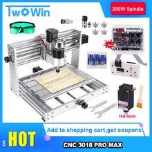 CNC 3018 Pro MAX Engraver,5500mw/15w Big Power Laser ,GRBL Control With 200W Spindle DIY CNC Machine 3 Axis PCB Milling Machine