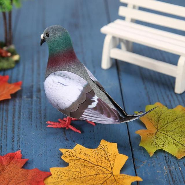 Simulation Foam Pigeon Model Fake Artificial Imitation Bird Animal Home Garden Ornament Miniature Decoration Home Decoration 4