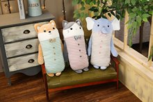 Animal dog cat elephant Sweet  Plush Toy Soft Cartoon  Stuffed Doll Baby Pillow Gift Toys chi s cheese cat private sweet cat papa big eyes cat plush toy doll kids toy home pillow