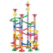 109 шт. 3D Строительные блоки трубопровод гоночная дорожка ролл мяч мрамор бежит игры игрушки подарки для детей