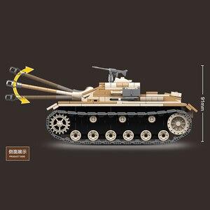 Image 3 - WW2 tanque de bloques de construcción militar de Alemania III, tanque militar de bloques, Arma de soldado del ejército, juego de ensamblaje para niños, juguetes para niños