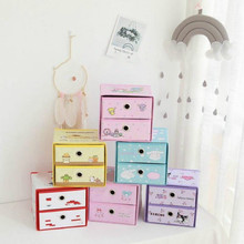 1PC Cute Cartoon Melody Twins Stars Storage Cabinet Drawer Cosmetics Makeup Stat