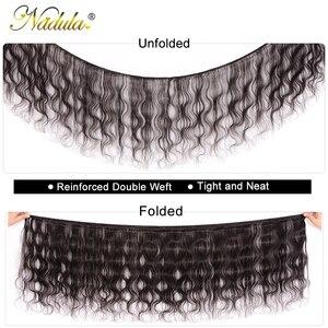 Image 2 - Nadula שיער 7A פרואני שיער חבילות עם סגירת 4*4 תחרה שוויצרית סגר עם גוף גל שיער טבעי Weave רמי שיער טבעי צבע