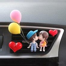 Kreatywna para dekoracja samochodowa odświeżacz montowany na kratce nawiewu na klips perfum aromaterapia klimatyzacja dekoracja akcesoria samochodowe śliczna dekoracja