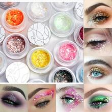 Pudaier Eyeshadow Diamond Pearlescent Sequin Pigment Glitter Eyeshadow 34 Color Metallic Powder Eyes Shadow Palette Makeup недорого