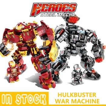 цена на Marvel Building Blocks Bricks Iron man Hulkbuster War Machine Super Heroes Avengers Infinity War Children Kids Toys Gifts Kits