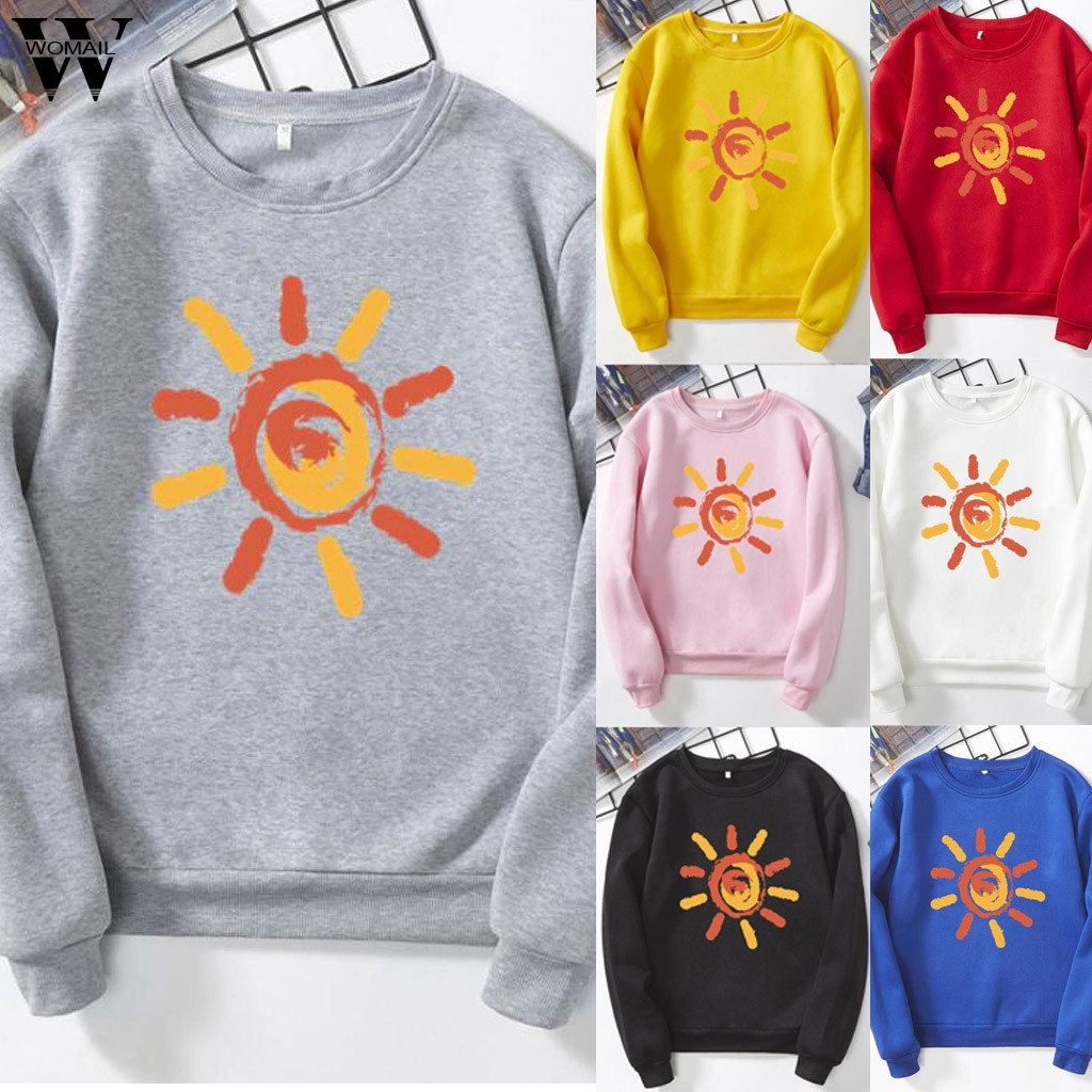women sweatshirt Winter O-Neck Long Sleeve Cotton Warm Sweatshirts Korean Loose Female Casual Coat women autumn Sweatshirt S3