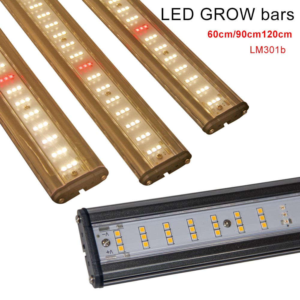 Hot Amazon Samsung Lm301b 600W High Par Indoor Fluence Full Spectrum Hydroponic Diy Led Grow Light Trip Bar