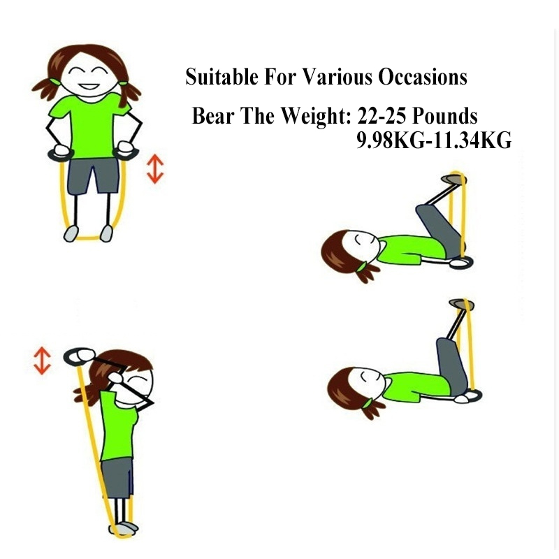 120cm Elastic Resistance Bands Yoga  (2)