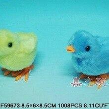 Jf59673 намотка Nap маленький прыжок курица(один слой крыла) прекрасные плюшевые цыплята заводная игрушка