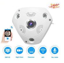 Vstarcam C61S 360 Camera IP Fish Eye Panoramic 1080P WIFI CCTV 3D VR Video IP Cam Micro SD Card Audio Remote Home Monitoring(China)