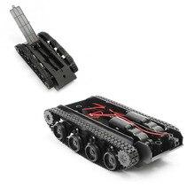 Rc tanque robô inteligente tanque de luz amortecimento equilíbrio tanque robô chassis plataforma para arduino 130 motor diy robô brinquedos para crianças
