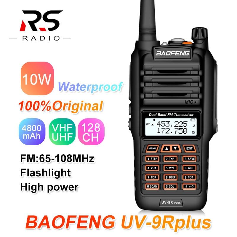 10W 4800mAh Baofeng UV-9R PLUS Walkie Talkie Waterproof UHF VHF Radio Amateur Marine Ham CB Radio Station HF Transceiver PMR 446