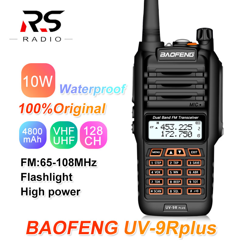 2020 Baofeng UV-9R PLUS 10W Waterproof Walkie Talkie Dual Band UHF VHF Marine Ham CB Radio Transceiver PMR 446 UV 9R Transmitter