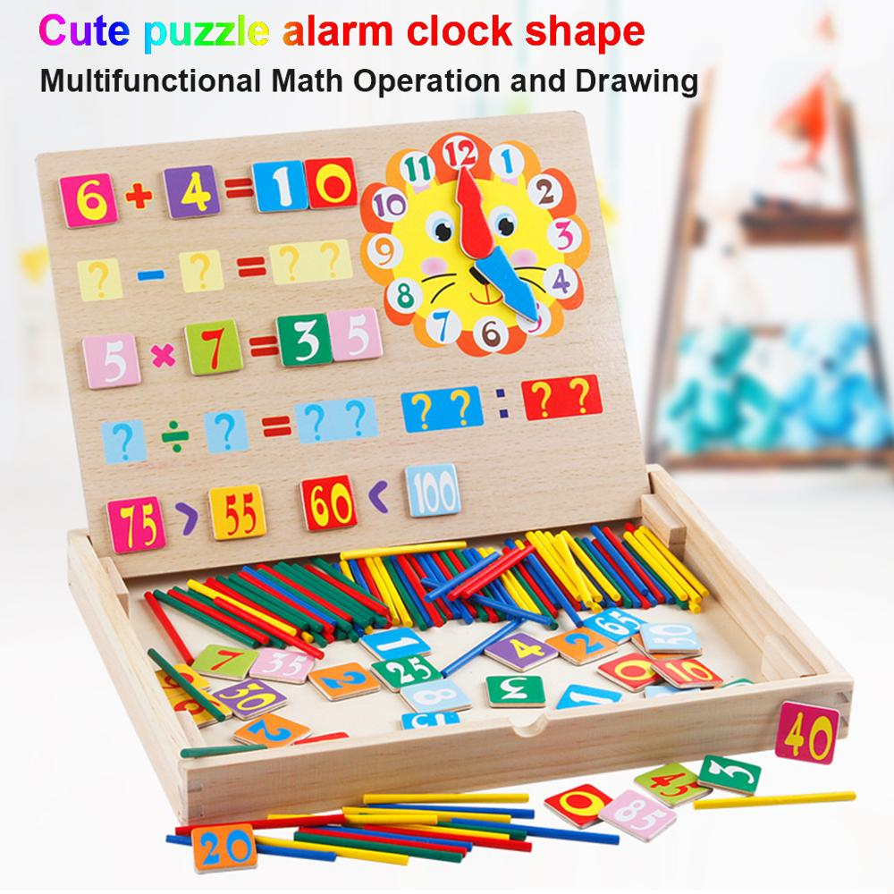 Child Educational Wood Magnetic Mathematics Learn Box Letters Cognition Toy