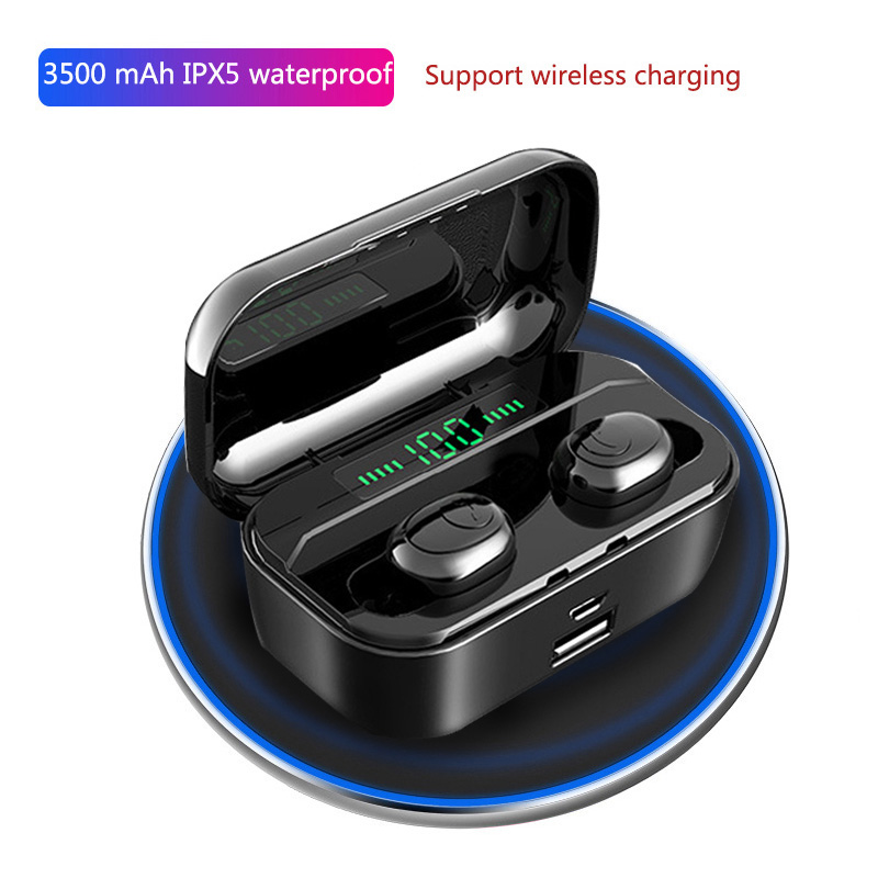 Bluetooth Earphone TWS 8D Hifi Stereo Wireless Headset Sport Music Earhook Bass Earbuds For Xiaomi iPhone Samsung all smartphone in Phone Earphones Headphones from Consumer Electronics