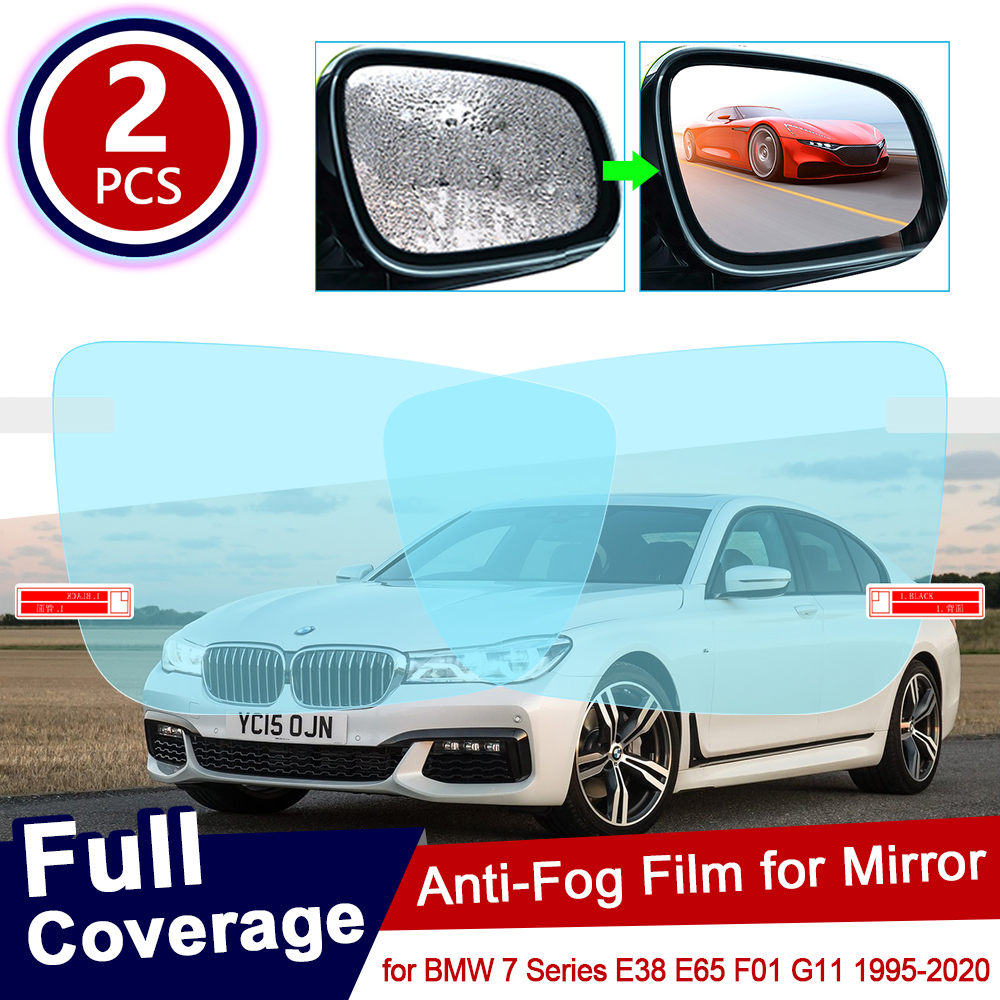 for <font><b>BMW</b></font> 7 Series <font><b>BMW</b></font> E38 E65 <font><b>F01</b></font> G11 Full Cover Anti Fog Film Rearview Mirror Rainproof <font><b>Accessories</b></font> 730i 740d 750i 730d 740i 728 image
