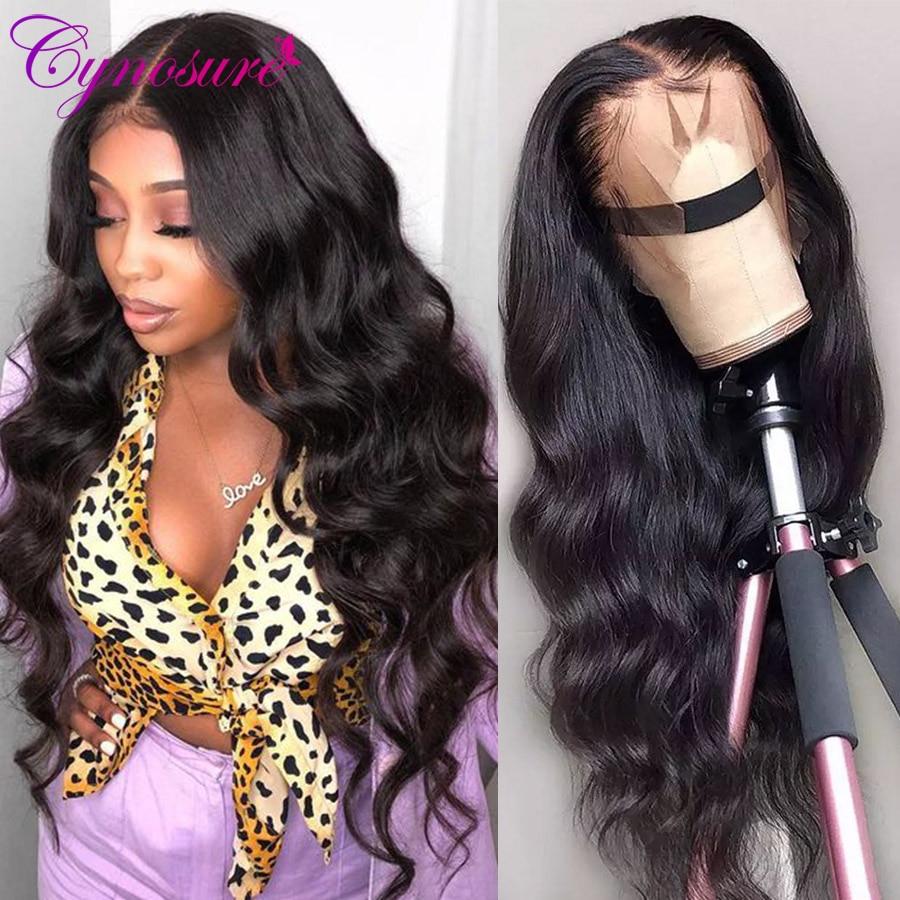 Парик Cynosure HD из прозрачных человеческих волос на сетке, бразильские волнистые волосы 13X4, парик из натуральных волос на сетке, парик на сетке ...