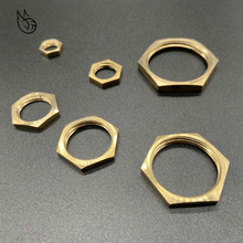 цена на Brass Hex Lock Nuts Pipe Fitting M10 M12 1/8 1/4 3/8 1/2 3/4 1 BSP Female Thread Hexagonal shank cap