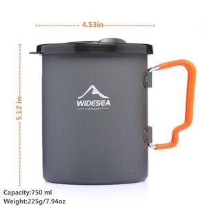 Image 2 - Widesea קמפינג קפה סיר עם צרפתית עיתונות חיצוני כוס ספל כלי בישול לטיולים טרקים