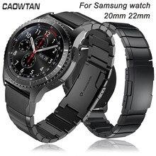 Correa de reloj para Samsung Galaxy Watch 3 Gear S3, 22mm, 20mm, 46mm, 42mm, correa de acero inoxidable S2 Classic