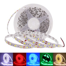 LED bande DC12V 60LED s/m Flexible lumière LED blanc chaud/blanc/rouge/vert/bleu RGB IP20 IP65 IP67 étanche 5050 LED bande 5 m/lot