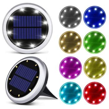 16 LED Solar Ground Lights Landscape Garden Lawn Lights Colored Light Festival Buried Lights Outdoor Road Stairs Deck Lights