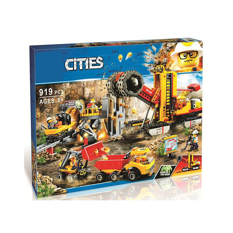 2019 new Bricks Mining Experts Site Compatible City Mining 60188 Building Blocks Model toys for Childrens kid gift 919Pcs|Blocks|   - title=