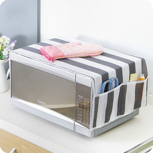 1pcs Microwave Cover Microwave Oven Hood Oil Dust Cover With Storage Bag Kitchen Accessories Supplies Home Decoration