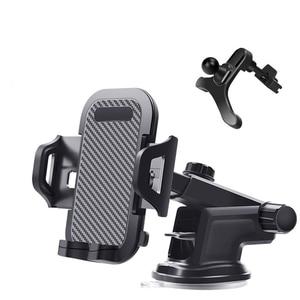 Image 2 - โทรศัพท์มือถือผู้ถือ Vent Air Car กระจกรถยนต์ Mount ขาตั้งโทรศัพท์ 360 คาร์บอนไฟเบอร์ผู้ถือสมาร์ทโฟนสนับสนุนรถ