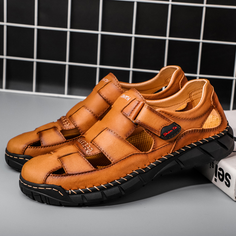 Mens Cowhide Leather Sandals