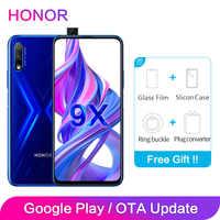 Honor 9X mundial ROM 4GB 64GB 128GB 48MP cámaras Dual GPU Kirin 810 Octa Core 6,59 pulgadas FHD Pantalla Completa teléfono móvil teléfono inteligente