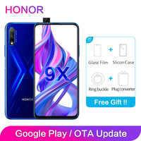 Honor 9X Global ROM 4GB 64GB 128GB 48MP Dual Cameras GPU Kirin 810 Octa Core 6.59 inch FHD Full Screen Mobile Phone Smartphone