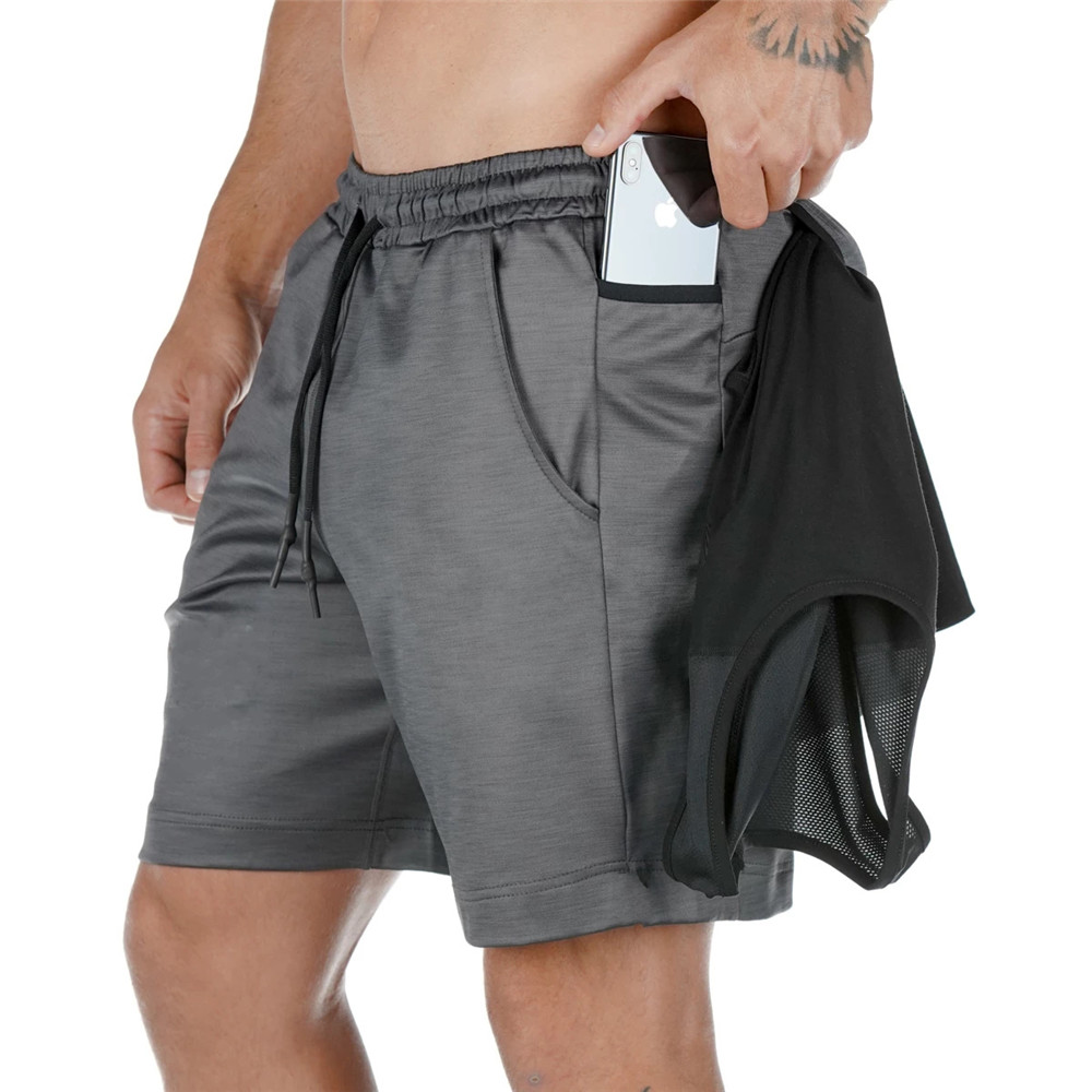 Gyms Fitness Quick Dry Shorts Men Bodybuilding Bermuda Jogger Workout Summer Multi-pocket Short Pants Male Thin Beach Sweatpants