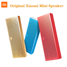 원래 Xiaomi 미 스퀘어 블루투스 스피커 글로벌 버전 무선 휴대용 스테레오 스피커 미니 사운드 바 금속 USB 마이크