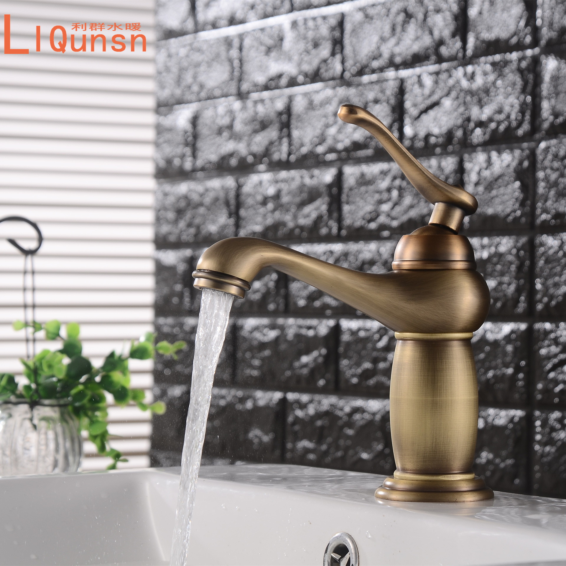 New Style Vintage Big Belly Basin Hot And Cold Faucet Retro Hot And Cold Mixing Water Basin Table Basin Tap