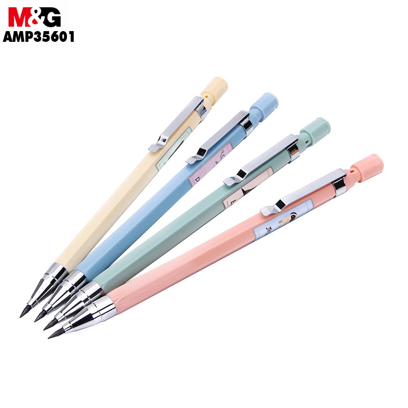 M&G 2B Mechanical Pencil (Random Colors)Coarse Brush Core. Automatic 2.0mm Student Painting AMP35601