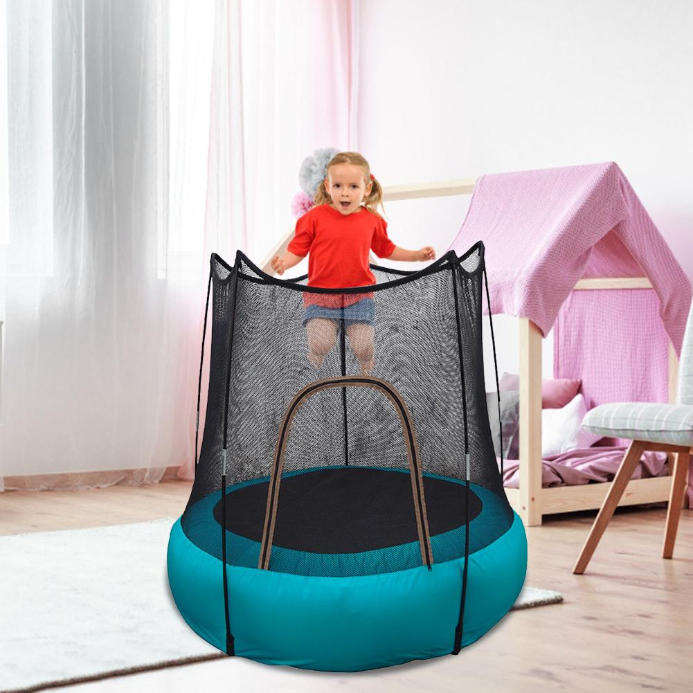 Children's Inflatable Trampoline Airtrack Foldable Safe Fun Toys For Kids Outdoor Camping Grass Beach Jumping Bouncer Bed