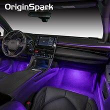 OriginSpark for Toyota Corolla RAV4 Highlander Camry AVALON LED interior atmosphere Music control lamp/light for 7 Colors