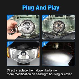 Image 5 - 1pcs H4 P15D Motorcycle Headlight Bulb 1200LM Hi/Low Beam 12SMD 3030 Chips Motorbike Fog Lamp 12V 24V Moto Lights Accessories