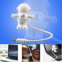 цена на 1PC Fantasy Astronaut USB Powered Mini LED White Night Light Bulb for Laptop PC Reading Gift Lights 2019