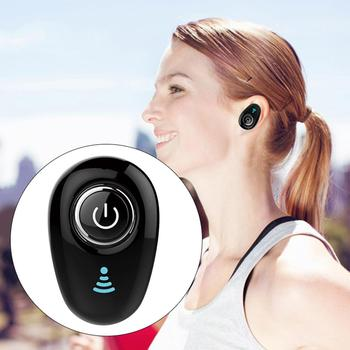 Portable Mini Bluetooth Earphone Wireless In-Ear Invisible Auriculares Earbud Handsfree Headset Stereo with Mic for Smart Phone image