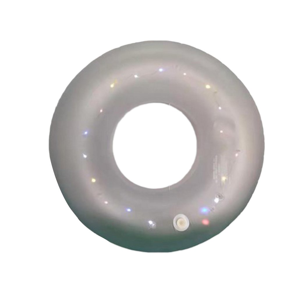 Pvc Luminous Inflatable Sequins Swimming Ring Children Women Rainbow Swim Tube Baby Swimming Circle Swimming Pool Floats