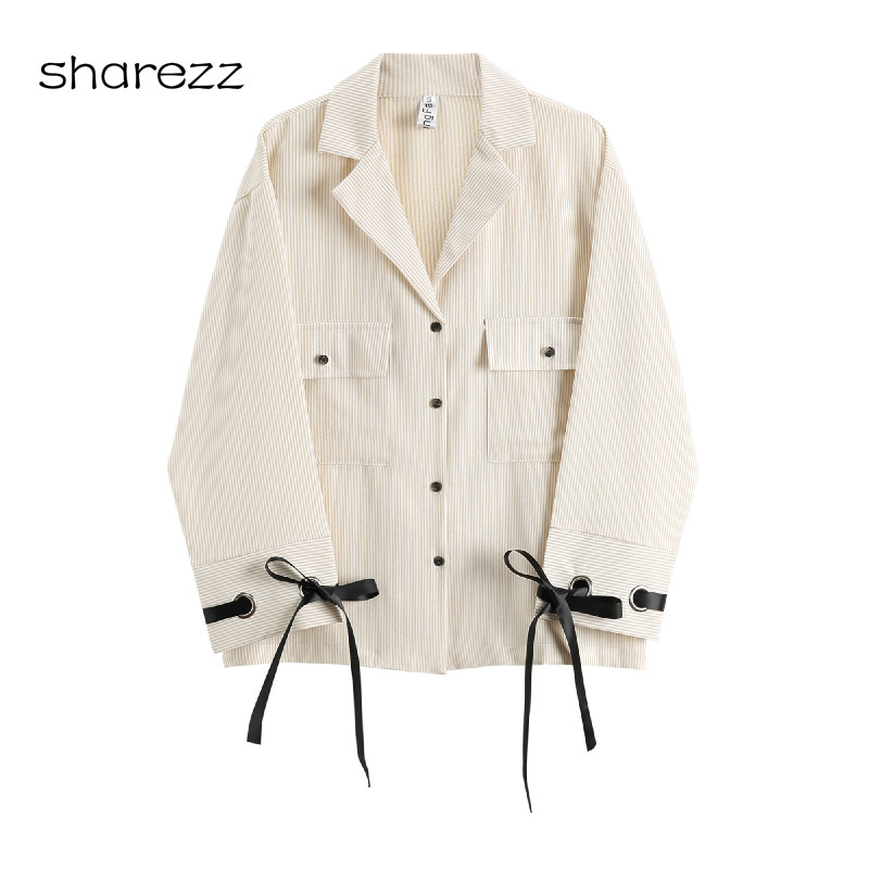 Ladies Blazer Suit Buttons Office Retro Women's New-Fashion Single-Breasted Cuff Lacing