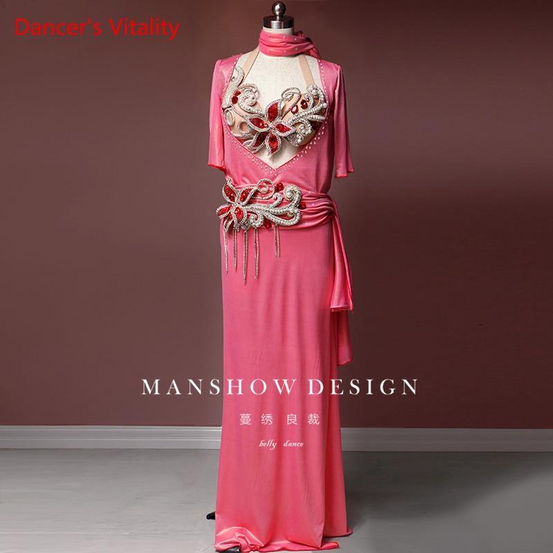 Belly Dance Robe New Suit Sexy Oriental Dance Performance Clothing High-end Custom Luxury Diamond Dancing Unifom