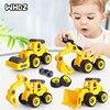 8 Style Engineering Vehicle Toys Plastic Construction Excavator Tractor Dump Truck Bulldozer Models Kids Boys Mini Gifts