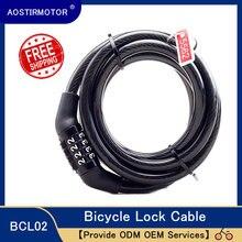 AOSTIRMOTOR bloqueo código de 4 dígitos combinación candado de bicicleta candado de seguridad para bicicletas equipo de bicicleta MTB Anti-robo de bloqueo