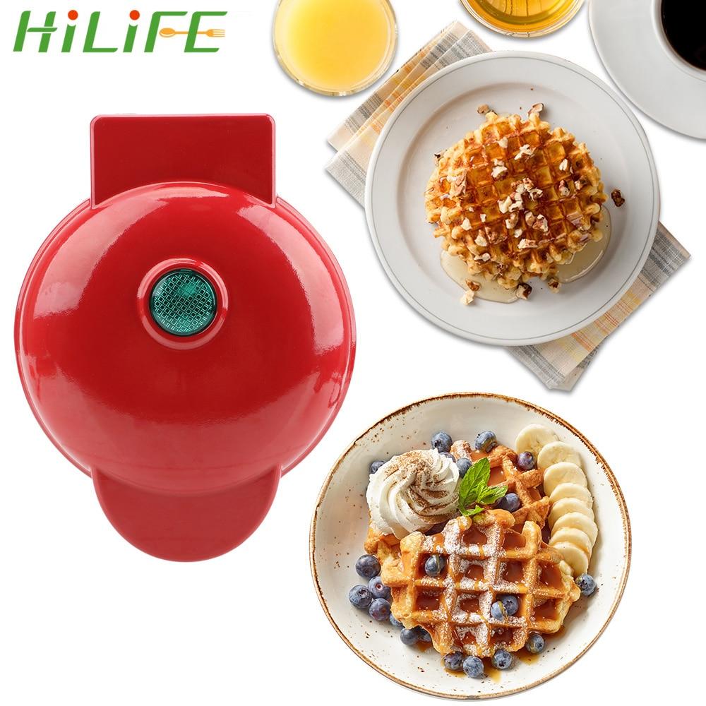 Hilife mini elétrica waffles fabricante bolha ovo bolo forno café da manhã waffle moldes mini waffle panela eggette máquina ovo bolo forno