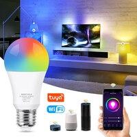 WiFi Intelligente Lampadina 12W 15W RGB + Bianco + Bianco Caldo E27 HA CONDOTTO La Lampadina Dimmerabile Alexa Compatibile tuya Vita Intelligente APP Google Assistente